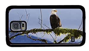 Hipster custom Samsung Galaxy S5 Case Bald Eagle Branch PC Black for Samsung S5