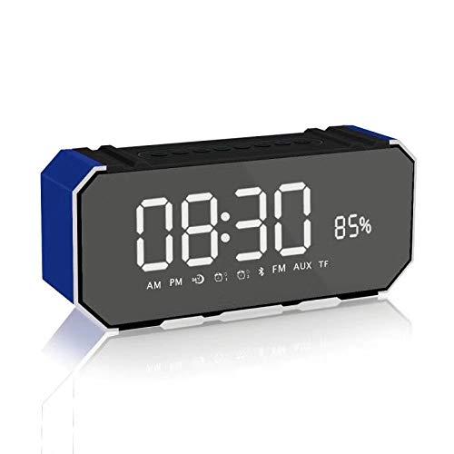 xingganglengyin Mirror Bluetooth Speaker Portable Multifunction Sound Blaster with Alarm Clock Insert U Disk Dual Speaker Subwoofer l Bluetooth Speaker by xingganglengyin (Image #2)