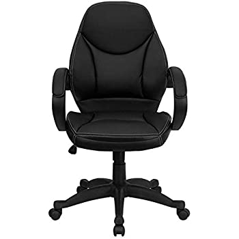 This item Flash Furniture Mid Back Black Leather Contemporary Executive  Swivel Chair with ArmsAmazon com  Flash Furniture Mid Back Black Leather Contemporary  . Flash Furniture Mid Back Office Chair Black Leather. Home Design Ideas