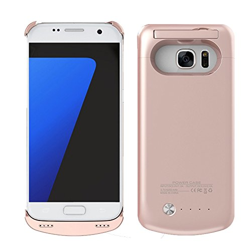 Price comparison product image S7 Battery Case,  REDGO 4200mAh Charger Rechargeable Backup Portable External Power Pack for Samsung Galaxy S7 (Rose Gold)