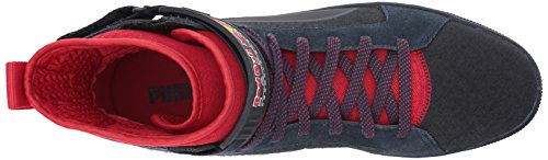 Puma Mens Rbr Cups Mid Sneaker Total Eclipse-chinese Red