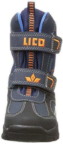 Lico Jungen Noris Schneestiefel Blau (Marine/Blau/Orange)