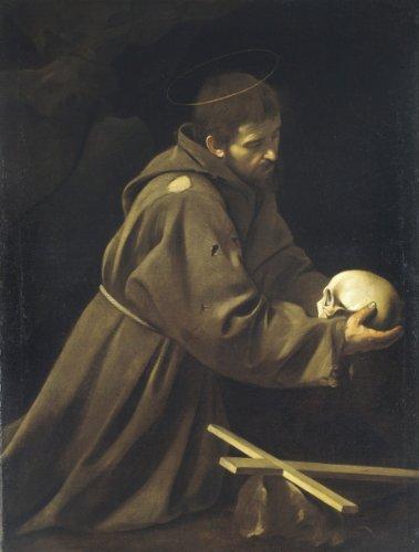 Caravaggio St Francis in Prayer copia 7.55 X 9.96 Canvas Art Print