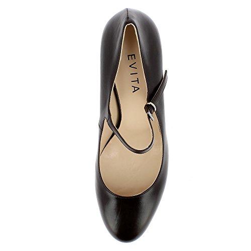 Evita Shoes Bianca - Zapatos de vestir de Piel para mujer marrón oscuro