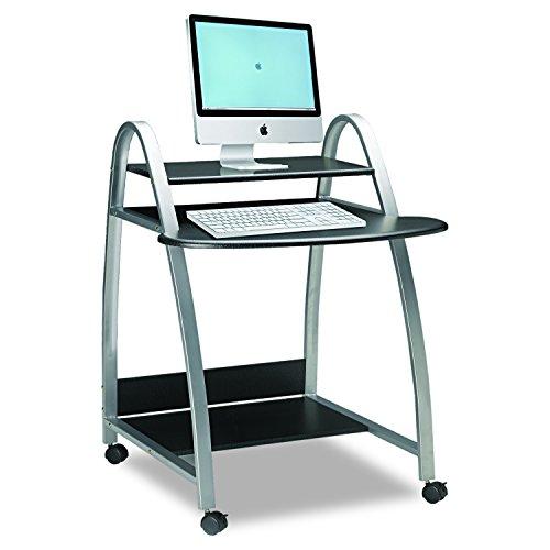 (Mayline MLN971ANT Soho Computer Desk, Anthracite Tf/Metallic Gray)
