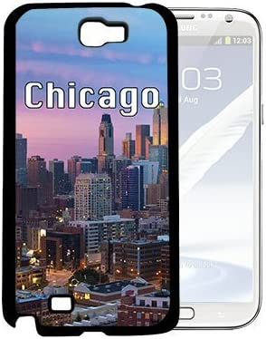 Chicago City Skyline Wallpaper Samsung Galaxy Note Ii 2 N7100 Hard Snap On Phone Case Cover Amazon Co Uk Electronics