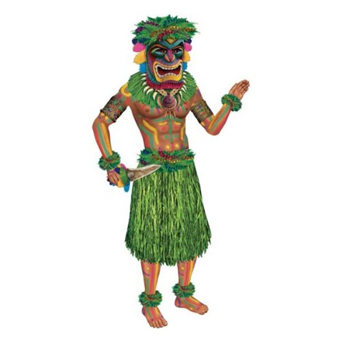 [Jointed Tiki Man Party Accessory (1 count) (1/Pkg)] (End Of The World Party Costume)