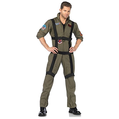 Top Gun Paratrooper Adult Mens Costumes (Top Gun Paratrooper Costume - Medium/Large - Chest Size 43)