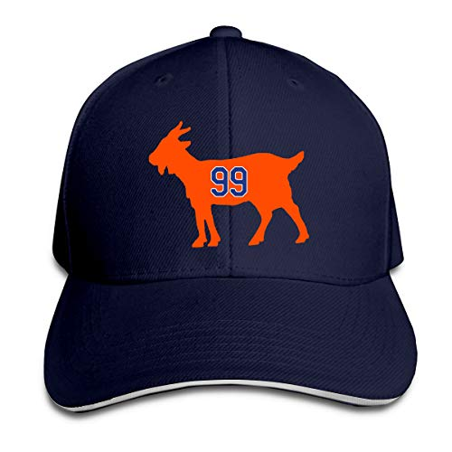 - Moore Me Adjustable Baseball Cap Edmonton Gretzky Goat Cool Snapback Hats Navy
