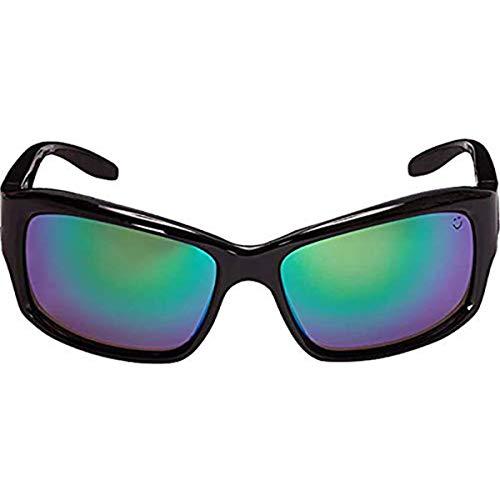 (Spy Optic Libra Polarized Wrap Sunglasses, 60 mm (Black))