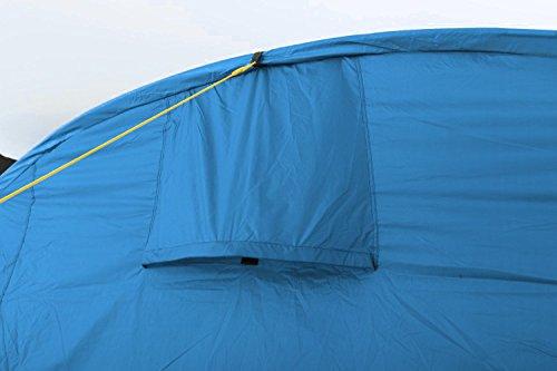 41LLe3csGwL CampFeuer Tunnelzelt Multi Zelt für 4 Personen | riesiger Vorraum, 5000 mm Wassersäule | mit Bodenplane und versetzbarer…
