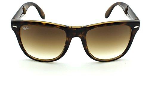 51 Rb4105 Sunglasses ban Brown Lens Frame Unisex Gradient Wayfarer Ray 710 Light Havana Crystal Folding f6q5WF