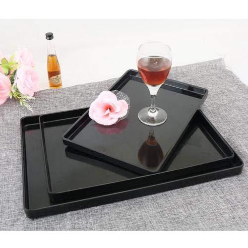 FidgetGear Serving Fruit Bread Plate Wooden Breakfast Tea Bed Tray Platter Black 10Size F 38.2×27.8cm from FidgetGear