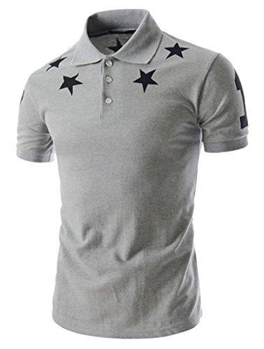 Heaven Days(ヘブンデイズ) ポロシャツ ゴルフシャツ 星柄 スター シンプル 半袖 メンズ 1706G0624
