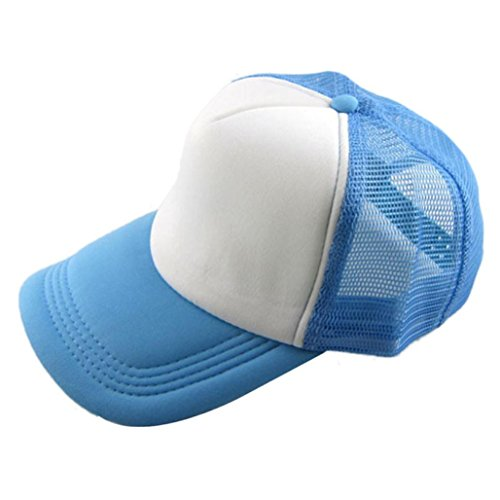 Aniywn Spring & Summer Pure Color Unisex Casual Baseball Cap Trucker Mesh Blank Visor Hat Adjustable (Free, H)