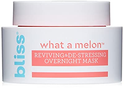 Bliss What a Melon Overnight Face Mask Reviving & De-Stressing Facial Mask Straight-from-the-Spa Paraben Free, Cruelty Free 1.7 fl oz