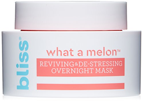 Bliss - What a Melon Overnight Facial Mask | Reviving & De-stressing Overnight Mask | Hydrates, Nourishes, and Softens |All Skin Types | Vegan | Cruelty Free | Paraben Free | 1.7 fl.oz (Bliss Mask)