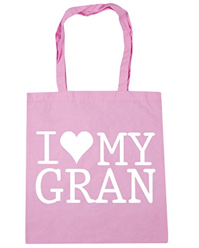 HippoWarehouse I Love My Gran Tote Shopping Gym Beach Bag 42cm x38cm, 10 litres