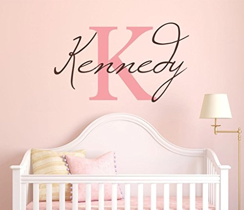 Letter Name Wall Stickers (Girls Custom Name and Initial Wall Decal Sticker, 20