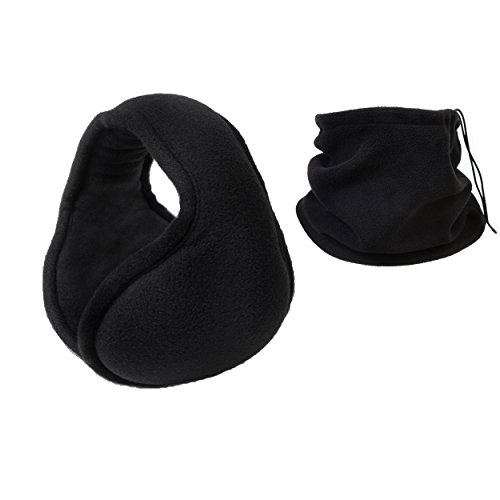 Sobike Ear Warmers Fleece Earmuffs Winter Adjustable Fit + Warmer Neck Gaiter