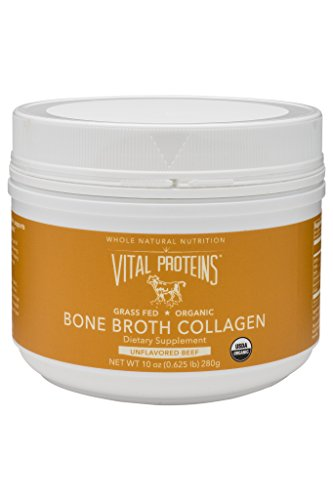 Vital Proteins Organic, Grass-Fed Beef Bone Broth Collagen, 10 oz Canister