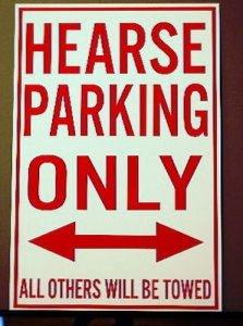 Motown Automotive Design Metal Street Sign Hearse Parking Only 12 X 18 CAR HOT Rod Rat Rod Muscle CAR Wall Art Gift BAR Man CAVE Restaurant Shop Garage Funeral Home Elvira FITS Cadillac