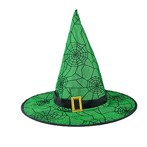 Green Witch Hat Headband (Black Halloween Witch Hat For Adult Womens, Bolayu Costume Accessory Cap (Green 1))