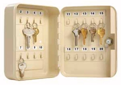 Master Lock Small Lock Box with 20 Key Capacity, 7131D, Beige