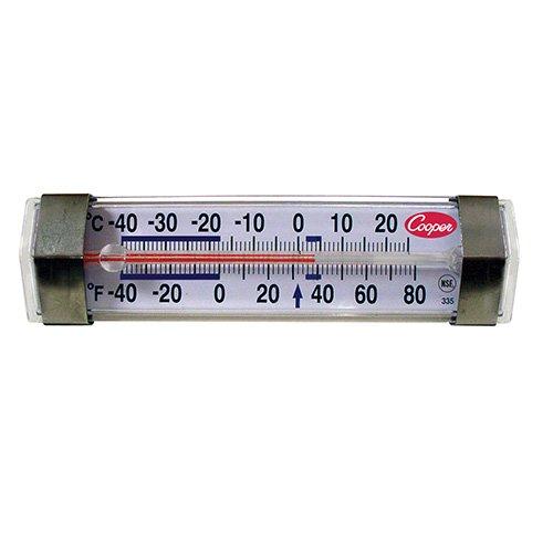 Cooper-Atkins Corp 335 Horizontal Refrigerator Freezer Thermometer -40 degrees F to +80 degrees F Range