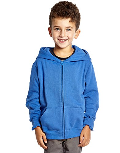 Leveret Kids Cotton Hoodie (8 Years, Royal Blue)
