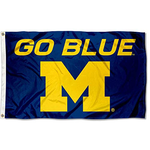 (Michigan Wolverines Large Go Blue 3x5 College Flag)