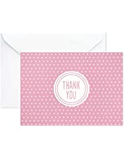 Hallmark Baby Shower Thank You Cards with Envelopes (Pink Polka Dots, 20 All Occasion Thank You Notes)