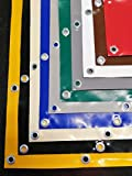 Heavy duty PVC tarpaulin 650 g/m2, truck, trailer, boat, pool tarpaulin with eyelets