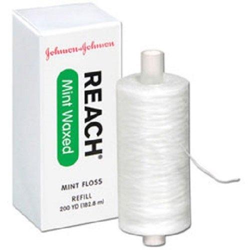 - 1 x Johnson & Johnson Reach Mint Floss Waxed refill spool, 200 yds, 2733