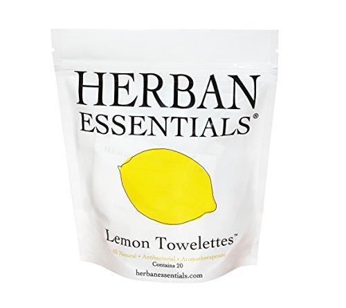 Herban Essentials Lemon Towelettes Count