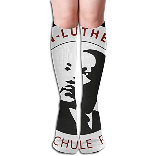 NBteach Day Martin Luther King MLK Jr Themed Clothing Apparel Leg Mid Tall Long Tube Knee High Calf Stocking Costume Clothes Dresses Hi Female Ladies Women Girl Teen Youth Hosiery Socks ()