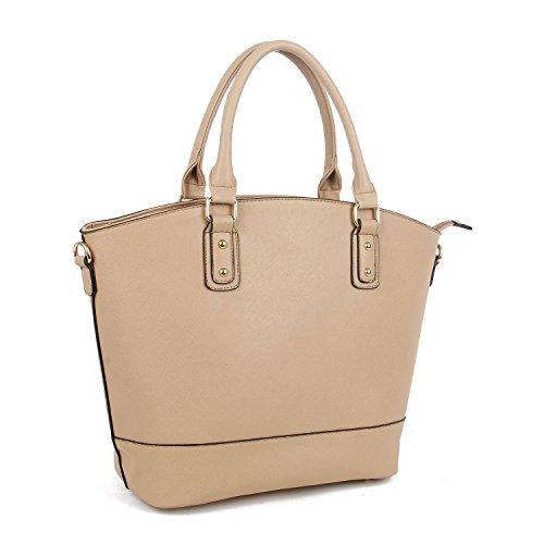 Tote Faux Handbag Designer Leather Bag Oversized Tan Shoulder Shopper Stylla wvAaFPqA
