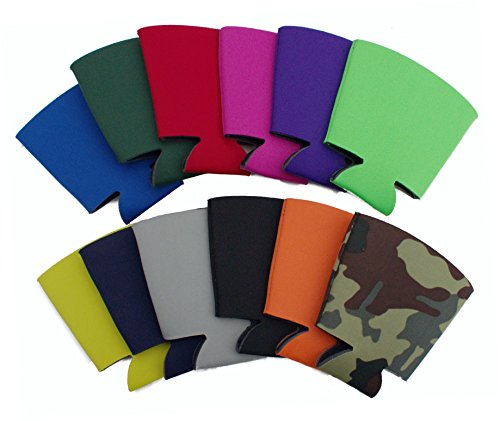 Blank Foam Collapsible Bottom Solo Cup Coolie (12, Various)