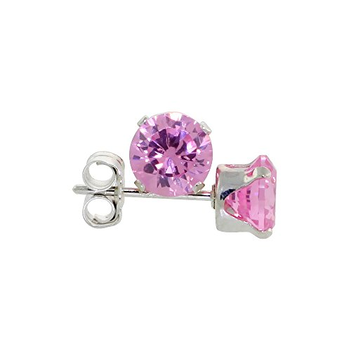 Sterling Silver Zirconia Earrings Zircon