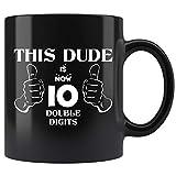 10 Year Old Boy Mug, Officially Double Digits Mug Coffee Mug 11oz Gift Tea Cups 11oz