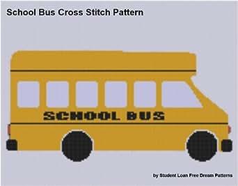 School Bus Cross Stitch Pattern