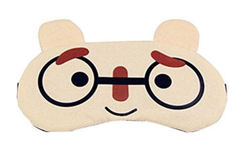 Eyeshade Travel Sleep Goggles Cute Face Eye Cover Cloth Siesta Eye Mask (Heat Signature Goggles compare prices)