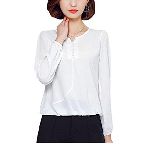 Amazon.com: FANGZHENG Long Sleeve Blouse Shirt Women Clothes Autumn Korean Style V Neck S-4Xl Large Size Female Tops: Clothing