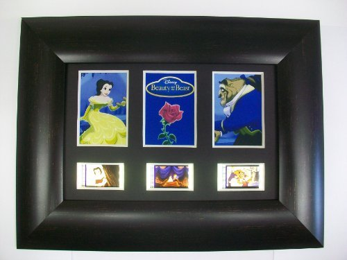 BEAUTY AND THE BEAST Framed Trio 3 Film Cell Display Collectible Movie Memorabilia Complements Poster Book Theater