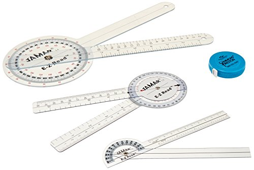 (Jamar E-Z Read Measuring Set, Physical Therapy Evaluation Tools, Includes Goniometers & Tape Measures, Measuring Tools for Muscles, Joints, and Motor Functionality, Professional Tools for Therapists)