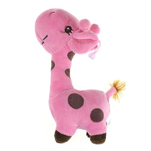 Lookatool Giraffe Dear Soft Plush Toy Animal Dolls Baby Kid Birthday Party Gift (Hot Pink Giraffe)