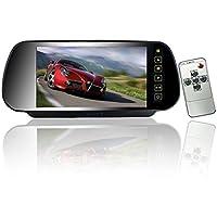 """7"""" Coche Auto Monitor En-Espejo LCD Pantalla HD"""