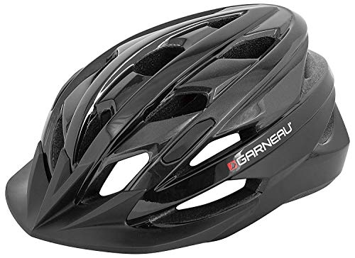 Louis Garneau Majestic Lightweight, Adjustable, CPSC Safety Certified Bike Helmet for Adults, Black/Gray, X-Large