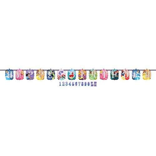 Ultimate Disney Princess Party!!!Birthday Party Decoration Supplies Bundle Pack with 16lg&16sm Plates 16-9oz Cups, Matching Table Cover&Jumbo Banner,50 Napkins(Bonus Matching Party Straw Pack) by Everyday Party Bundles (Image #6)
