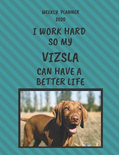 Vizsla-Weekly-Planner-2020-Vizsla-Lover-Gifts-Idea-For-Men-Women-Funny-Weekly-Planner-I-Work-Hard-So-My-Vizsla-Can-Have-A-Better-Life-With-To-Do-List-Notes-Sections